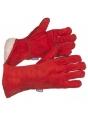 Краги спилковые красные пятипалые с меховой подкладкой Трек Люкс