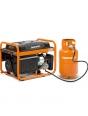 Генератор бензиновый газовый DAEWOO GDA 3500 DFE