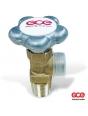 Вентиль газовый балонный GCE Кислород 25E (хромированный)
