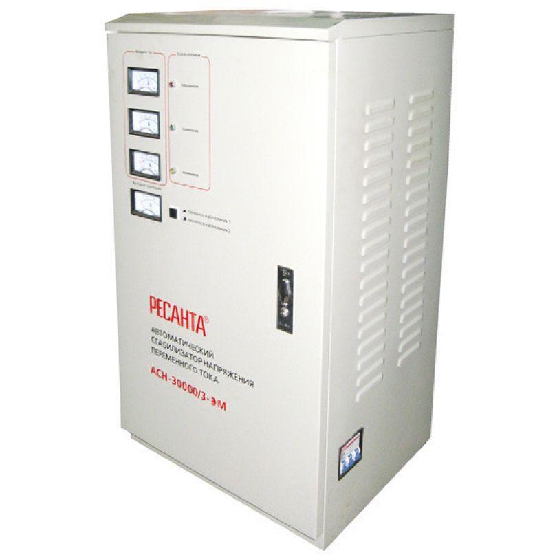 Трехфазный электромеханический стабилизатор Ресанта АСН-30000/3-ЭМ