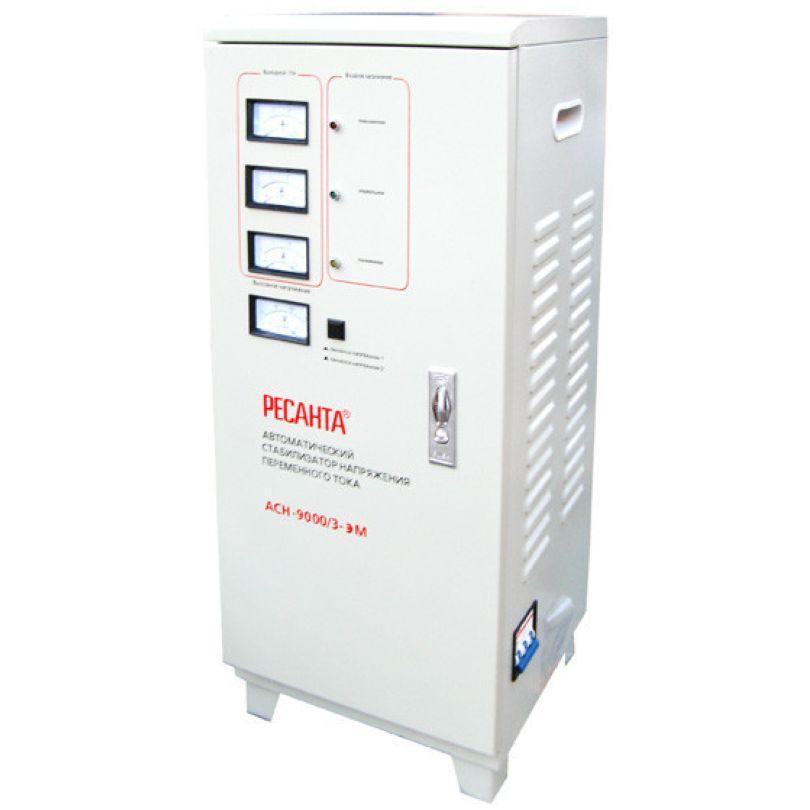 Трехфазный электромеханический стабилизатор Ресанта АСН-9000/3-ЭМ