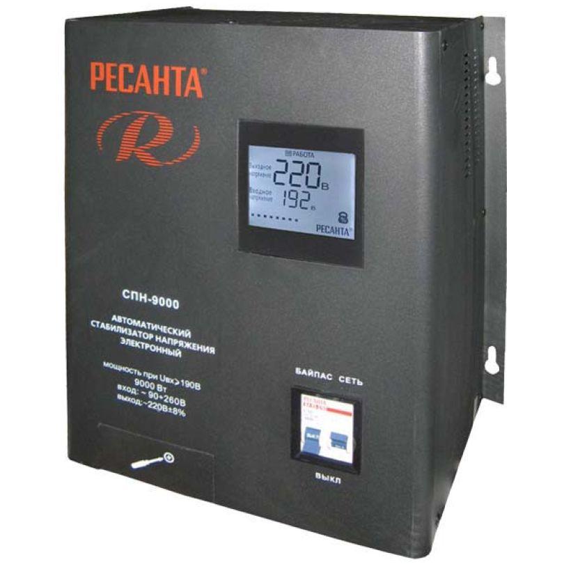 Однофазный цифровой стабилизатор Ресанта СПН-9000