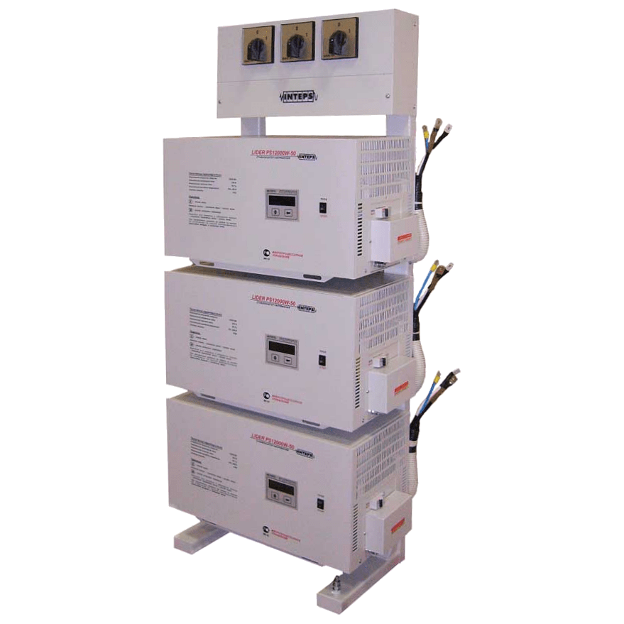 Трехфазный электронный стабилизатор LIDER PS 30 W-50